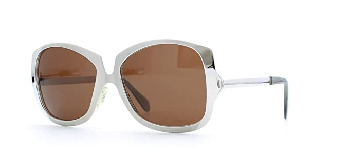 b60e55aebf6 Image Unavailable. Image not available for. Color  Luxottica Boutique TANIA  Silver Authentic Women Vintage Sunglasses