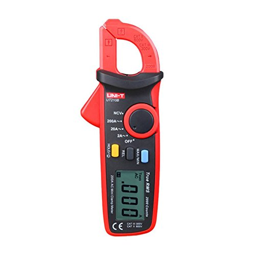Zerama UNI-T UT210B NCV Test Mini Digital Clamp Meter Multimeter Tester Auto Range AC Current 2A/20A/200A ()