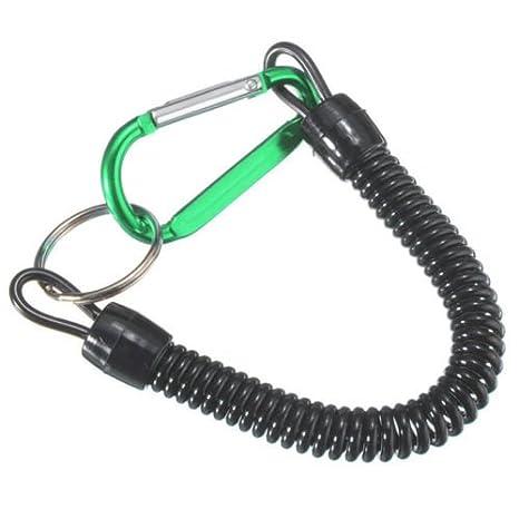 Llavero mosquetón cordón extensible + cuerda cordón para llave Block Shaft verde