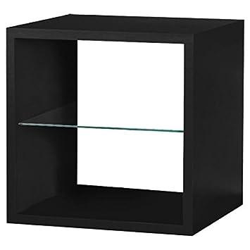 Quattro Cube Regal, aus MDF lackiert oder Holz – Zwischenboden Glas ...