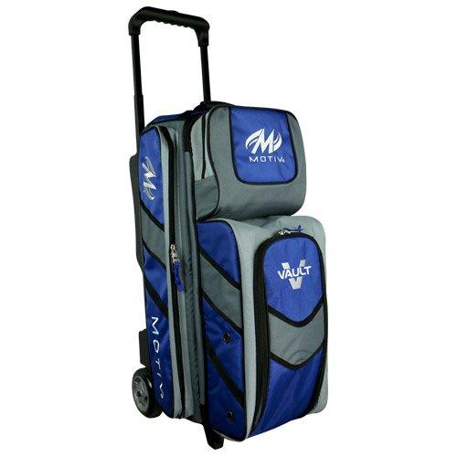 Motiv Vault 3 Ball Roller Bowling Bag Black/Grey/Blue