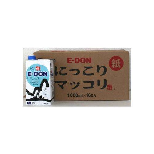 二東(イードン)にっこりマッコリ紙パック1ケース(1000ml×16) B007999VGE