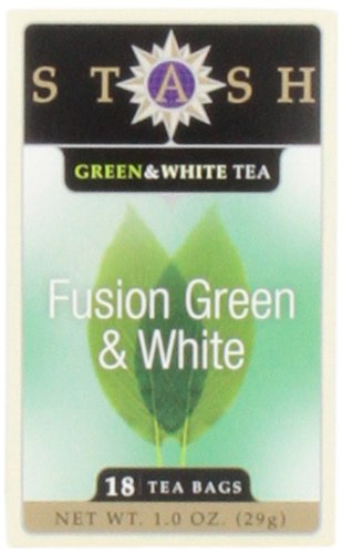 Stash Tea Fusion Green & White Tea, 18 Count Tea Bags in Foil (Pack of 6)