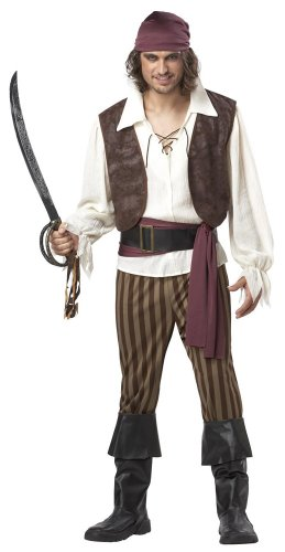 California Costumes Men's Rogue Pirate Costume,Brown,X-Large ()