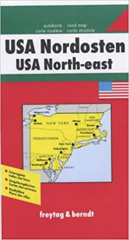 USA NorthEast Road Map 9783707900651 Amazoncom Books