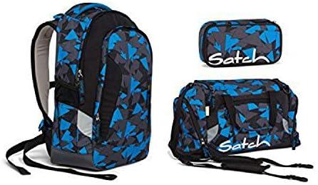 Satch Pack by Ergobag Set Schulrucksack 3 tlg Blue Triangle