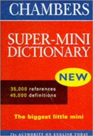 Chambers Super Mini Dictionary (Vinyl) (Chambers School