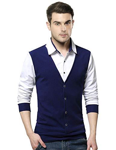 415JCQ%2BydKL EYEBOGLER Regular Men's Solid T-Shirt