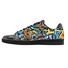 NEWGOGO Custom Art Graffiti Sneaker Canvas Shoes for Men