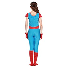 - 415JCterbmL - POP Style Women's Halloween Spidergirl Cosplay One Piece Spiderman Costume