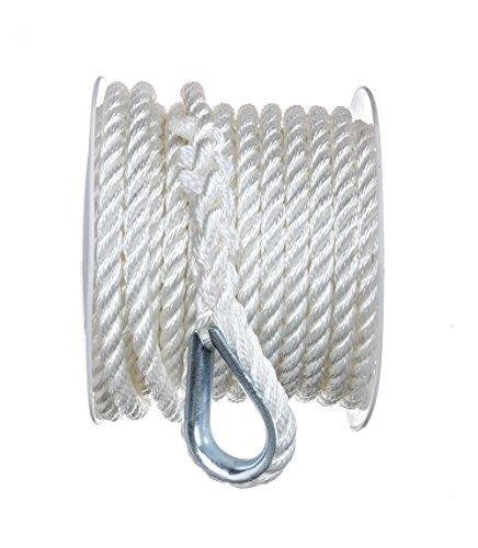 SEACHOICE 3-Strand Twisted Nylon Anchor Line 3/8