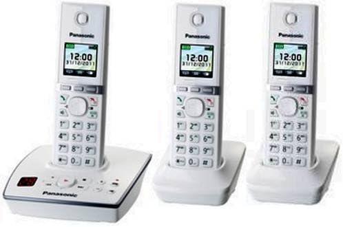 Panasonic - Kx-tg8062gw + 1 trío teléfono inalámbrico con contestador automático (3 auriculares) blanco: Amazon.es: Bricolaje y herramientas
