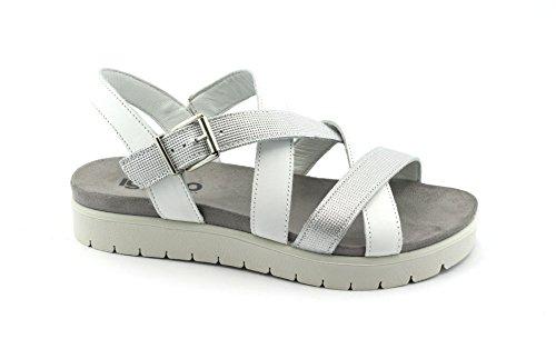 IGI CO 1171222 Silver White Shoes Woman Leather Sandals Strap Argento BH3smzRfrV