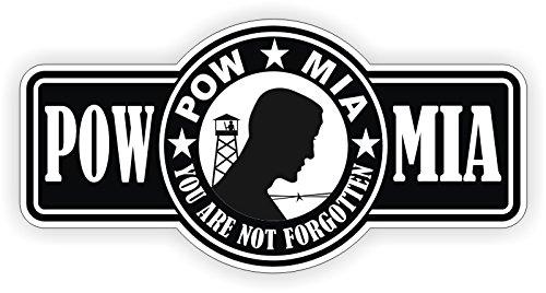 POW-MIA Hard Hat | Helmet Sticker Decal Label Motorcycle Lunch Box POW MIA