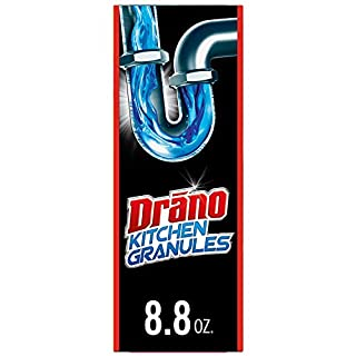 Drano Kitchen Granules Drain Clog Remover and Cleaner, Unclogs blockage from Grease or Cooking Oil, 8.8 oz