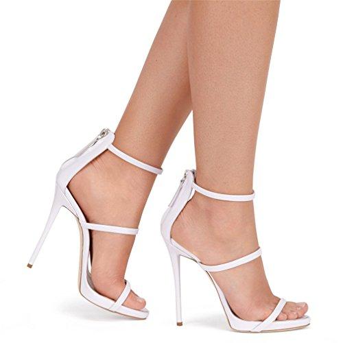 Moderne White EU43 Daim Creative Femmes Court Stiletto Talon Talons Plate CLOVER Dames Light A Forme Cm Night Filles Sandales Parti LUCKY Chaussures Hauts 1 Chaussures Bar cxBqSnZZw4