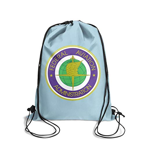 Federal Aviation Administration U.S. Logo Drawstring Backpack Awesome Athleticstring Personalized Bag
