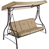 Garden Winds Open Box Lawson Ridge 3-Person Swing Replacement Canopy