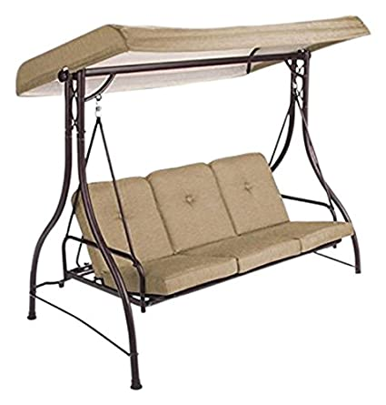 Garden Winds Lawson Ridge 3 Person Swing Replacement Canopy  Rip Lock 350