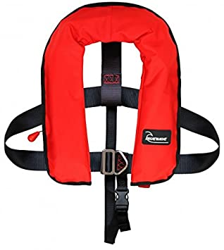 bluewave red kids 150n automatic lifejacket with harness: amazon co uk:  sports & outdoors