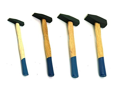 4 tlg Set Schlosserhammer Holzstiel 100-500 Gramm