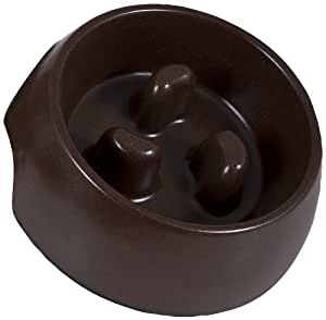 Aspen Pet 23357 Eco Slow Feeding Bowl for Pets, Large, Earth Brown