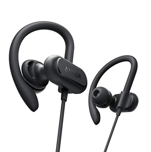 Anker Wireless Headphones, Soundcore Spirit X Bluetooth Sports Headsets w/Mic, Bluetooth 5.0, 12-Hour Battery, Noise Cancelling Wireless Earbuds, IPX7 SweatGuard Technology, Gym, Running, Workout