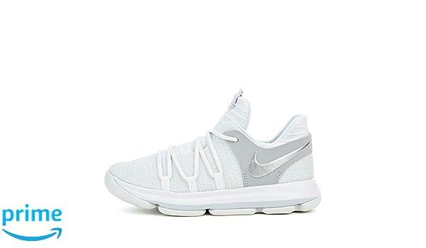 super popular 4e601 de8bf Amazon.com   Nike KD10 (PS) Cool Grey Igloo-White 1 Y   Basketball