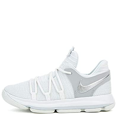 super popular 4b41e 4a07e Image Unavailable. Image not available for. Color  Nike KD10 (PS) Cool Grey  Igloo-White 1 Y