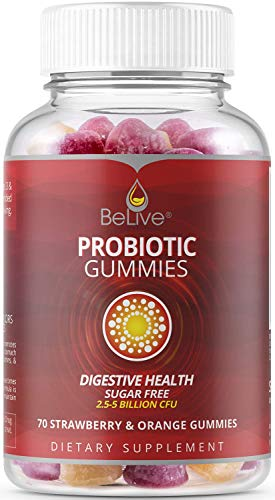 Probiotic Gummies for Kids, Men, and Women for Digestive Health Vitamins Supplement | Helps with Constipation, Bloating, Detox, Leaky Gut & Gas Relief, Sugar-Free, Chewables, All Natural - 70 Count