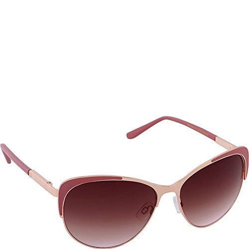 Nanette by Nanette Lepore Women's Ls149 Rgdcr Cateye Sunglasses, Rose Gold/Coral, 59 - Nanette Sunglasses Lepore