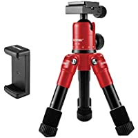 Zomei Lightweight Compact Aluminum Alloy Mini Desktop Tabletop Tripod with 360 Degree Panoramic Ball Head and Quick Release Plate for Canon Nikon DSLR Cameras and Iphone Samsung Mobile Phones(Red)