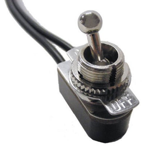 125v Wire Lead - Gardner Bender GSW-125BP Electrical Toggle Switch, SPST, ON-OFF, 6 A/125V AC, 6 inch Wire Terminal
