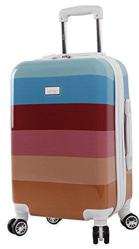 "Nicole Miller Rainbow 20"" Hard-Sided Luggage Spinner (Spice)"