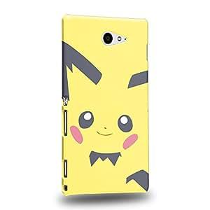 Case88 Premium Designs Pokemon Pichu Protective Snap-on Hard Back Case Cover for Sony Xperia M2