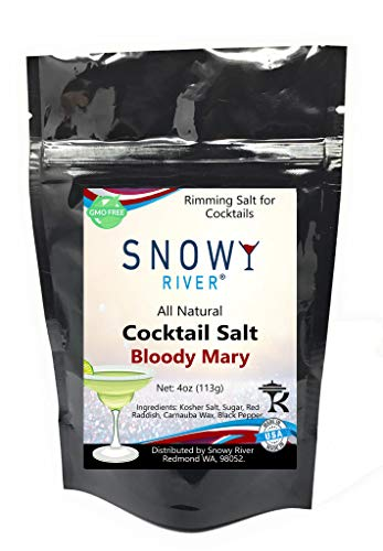 Snowy River Bloody Mary Cocktail Salt Mix - All Natural Pepper and Salt Cocktail Rimmer (1x5lb Bag) by Snowy River Cocktails (Image #3)