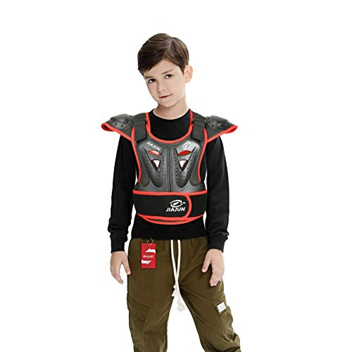 Children's Sports Protective Vest high Strength PE Sports Protective Equipment (Black, M) by Shindn (Image #1)