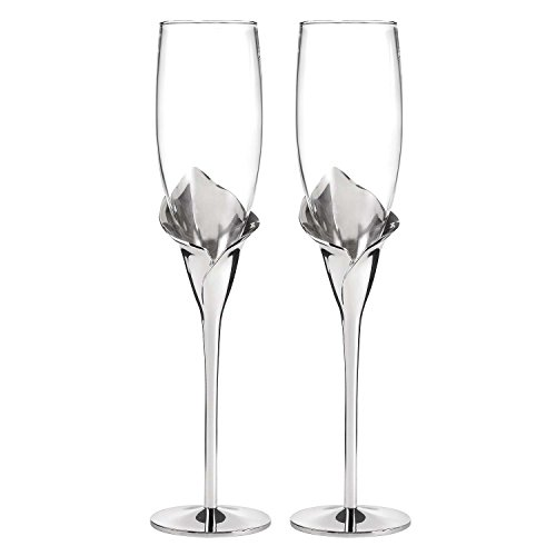Calla Lily Toasting Glasses - 5