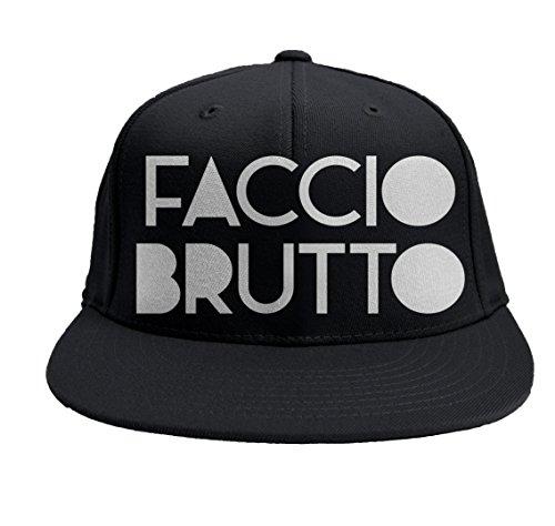 """Gorro Rap """"Faccio Brutto"""" baseball SNAPBACK visera llana baseball rapper"""
