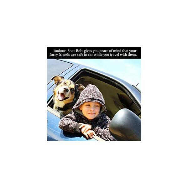 AODOOR Auto Hunde Sicherheitsgurt Hundegurt Sicherheitsgeschirr Hunde Adapter Auto sicherheitsgurt