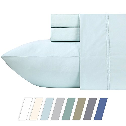 600 Thread Count Best Bed Sheets 100% Cotton Sheets Set - Spa Long-staple Cotton Queen Sheet For Bed, Fits Mattress Upto 18'' Deep Pocket, Soft & Silky Sateen Weave 4 Piece Sheets and Pillowcases - Make Bed Sheets
