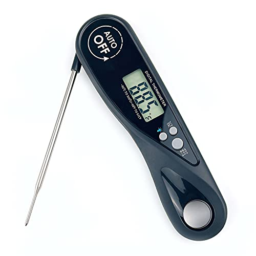 Meat Thermometers for Cooking and Grilling Digital Food Thermometer Instant Read Thermapen with Probe for BBQ Grill Black