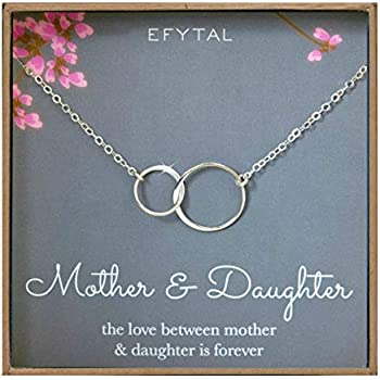820fc1380daac Amazon.com: EFYTAL Generations Necklace for Grandma Gifts - Sterling ...