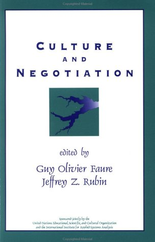 Culture and Negotiation: The Resolution of Water Disputes