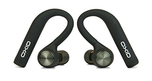 OXID AudioBuds True Wireless Bluetooth Headphones – Charging & Protective Case – 4.5 Hours Playtime, Touch Sensitive Controls, Phone Call & Voice Assistant Capability, HD Sound Quality (Black)
