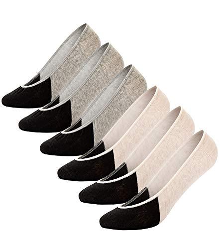 6 Pairs No Show Socks Women Invisible Non Slip Low Cut Boat Liner Socks