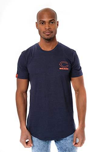 Chicago Bears Crew Shirt - NFL Men's Chicago Bears T-Shirt Active Basic Short Sleeve Tee Shirt, Medium, Navy
