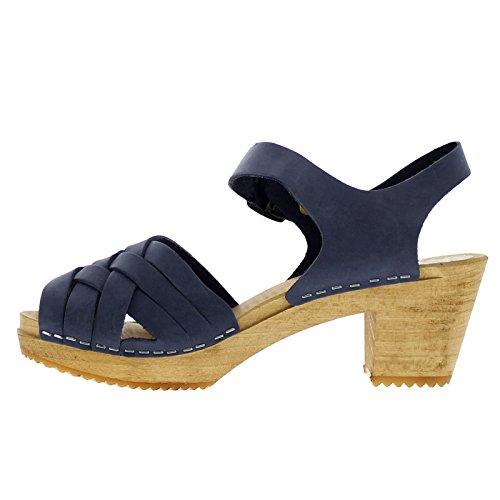 Moheda Womens Betty Nubuck Sandals Navy