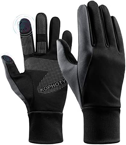 KOPHOTY Winter Gloves Men Women Water Resistant Touch Screen Warm Gloves Windproof Thermal Gloves for Driving Running Cycling Texting Hiking