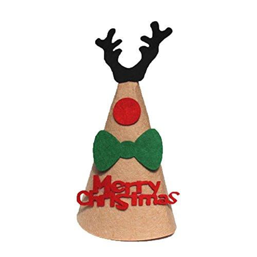 METFIT DIY Christmas Santa Hat Deer Caps Festival Party Decoration (B) (Jack Skellington Costume Diy)